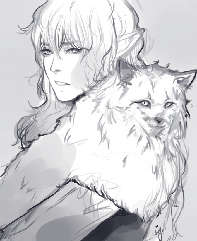 A man and his cat by Silvyen