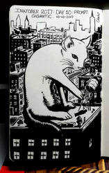 inktober: gigantic cat