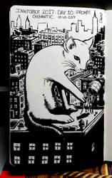 inktober: gigantic cat by johnchalos