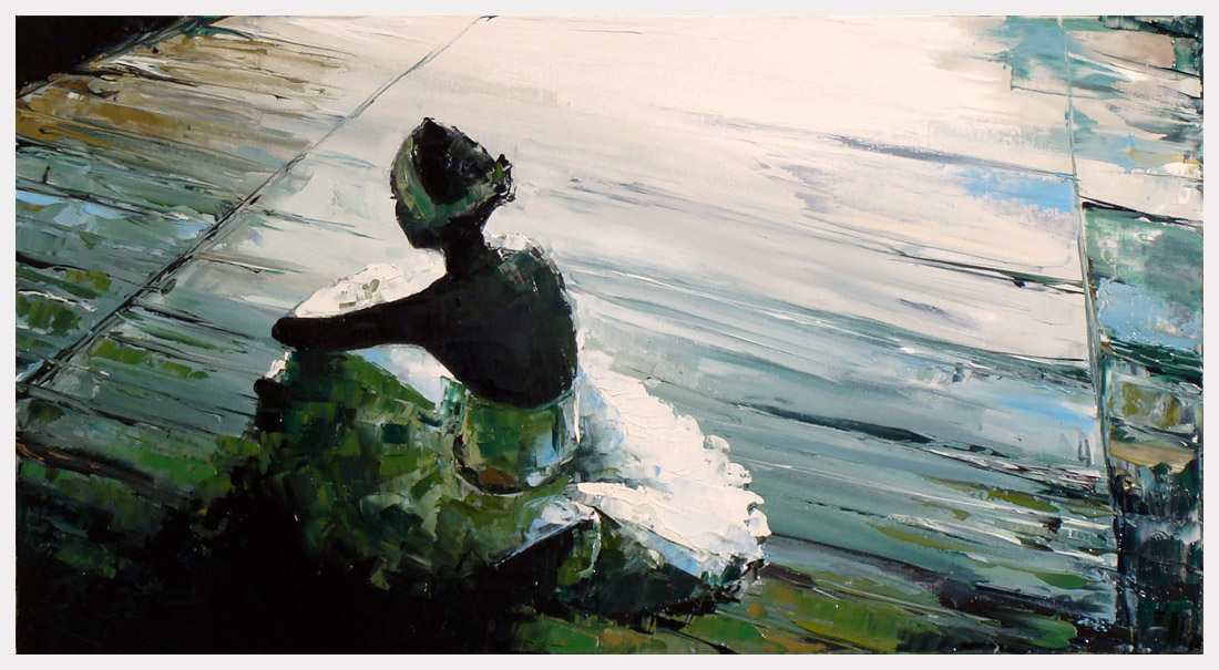 sit ballerina VI by szklanytygrys