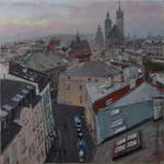Above roofs of Krakow 03