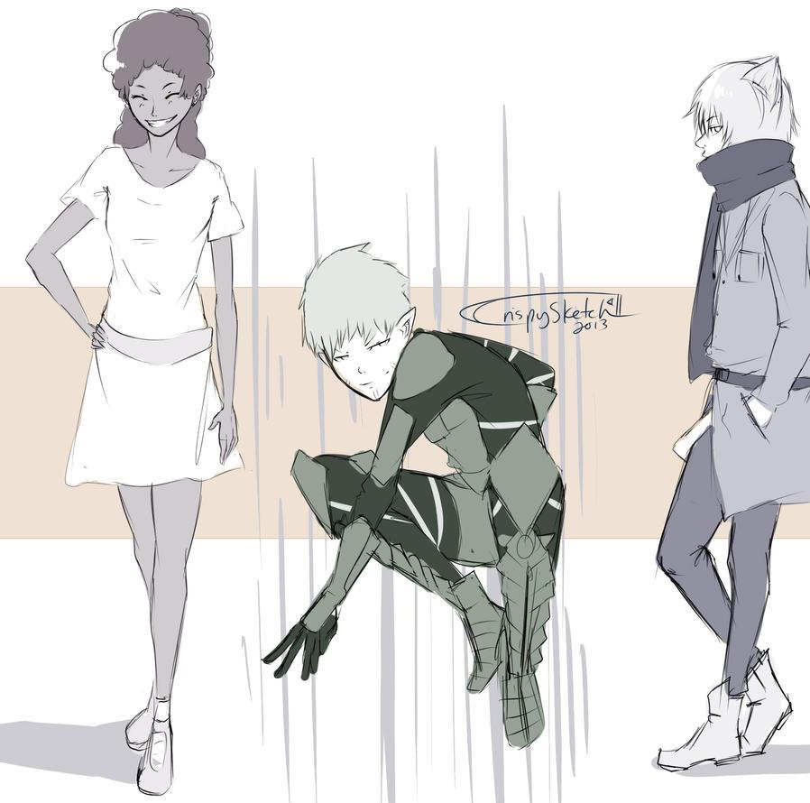 Raffle Sketches by CrispySketch