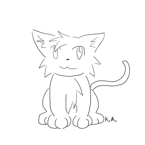 Simple Cat Lineart : Simple cat lineart by otackoon on deviantart