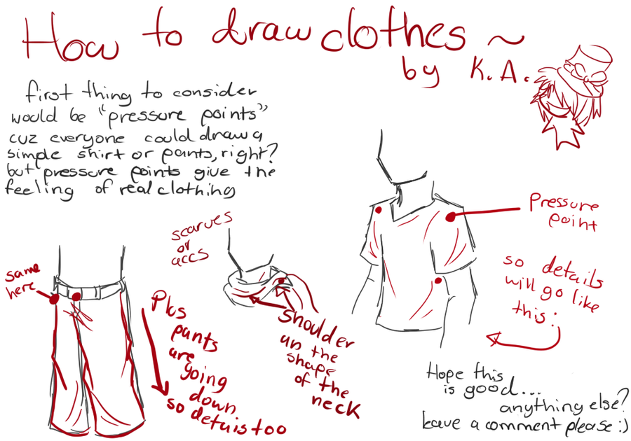 It is a photo of Dramatic Drawing Clothes Tutorial