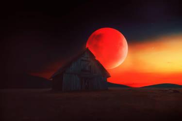 Moon Red by davidpradograficovid