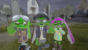 Zombie Are Inkling Girl !!!