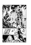 Aquaman page 1 inks