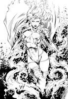 Emma Frost Phoenix Power Inks by Fendiin