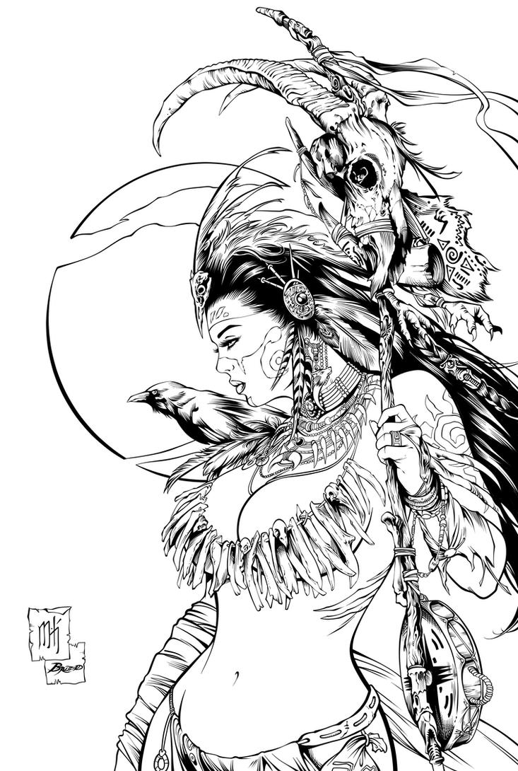 Dark Shaman Inks by Fendiin
