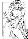 Wonder Woman inks by Fendiin