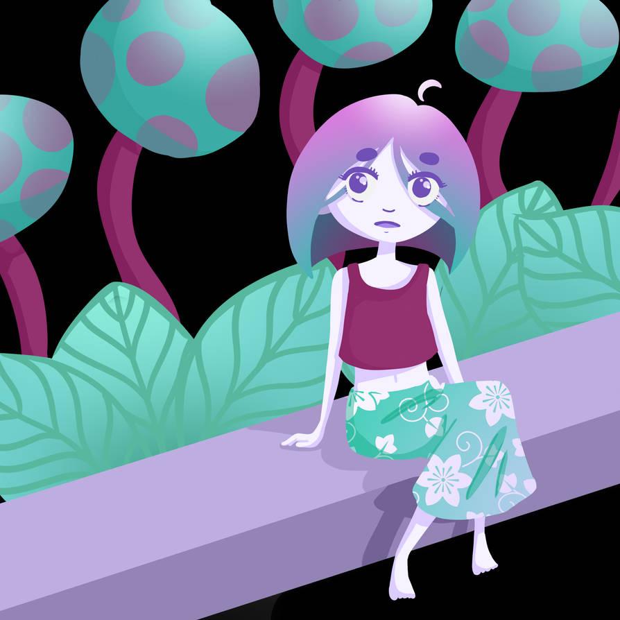 Purple Moon by Jiyuuriachan