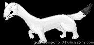 Pixel Ermine by Garchompdra