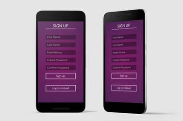 100 day UI Challenge - Sign Up by purvaldur
