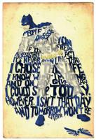 Batman Typography by DereckC