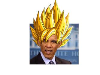 SSJ1 Obama by BlackKyurem14