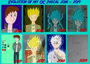 Evolution of my OC (2016 - 2019)