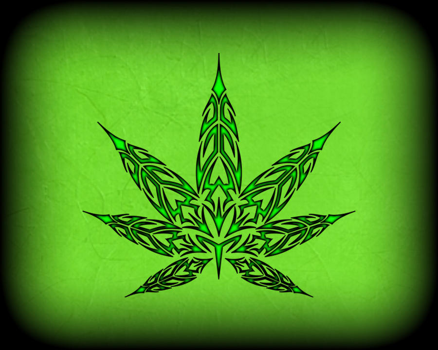 Tribal pot leaf v2 by blakewise on deviantart for Tattoo of weed leaf