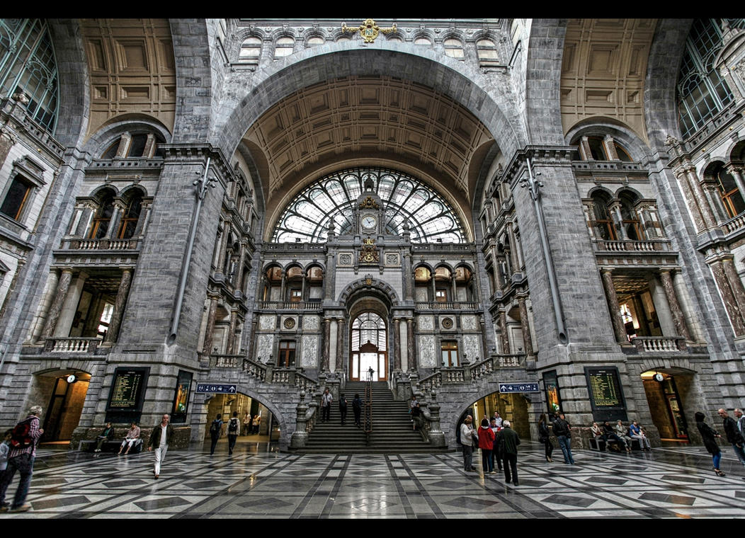 ...Antwerp Train Station... by erhansasmaz