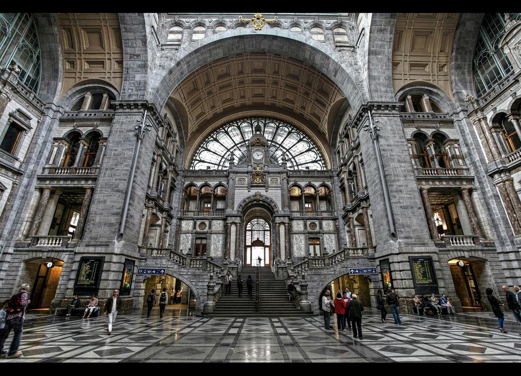 Belgija ___antwerp_train_station____by_erhansasmaz-d4t135b