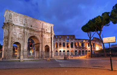 *Arch of Constantine and Coliseum*