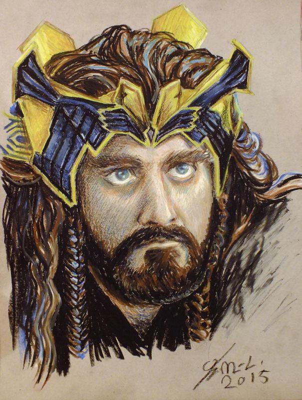 Goldsick!Thorin in oil pastel