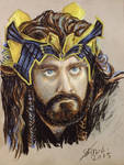 Goldsick!Thorin in oil pastel by Miruna-Lavinia
