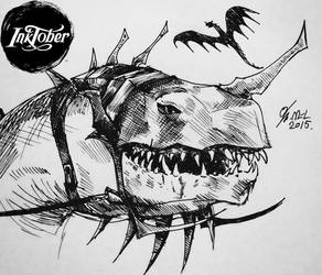 INKTOBER - week 4 - Fell Beast