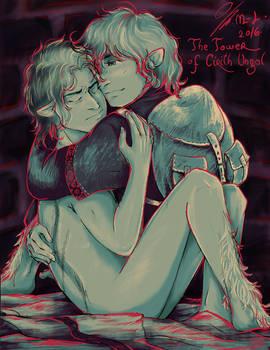Reunion of Frodo and Sam in Cirith Ungol