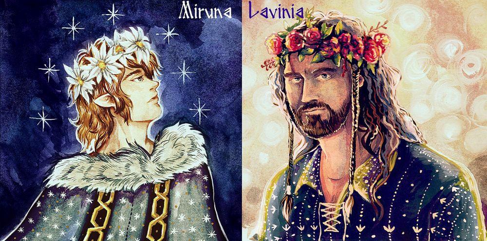 Burglar and King by Miruna-Lavinia