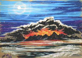 Mordor vs the clear sky by Miruna-Lavinia