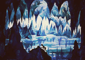 Gollum's Cave in the Mountains by Miruna-Lavinia