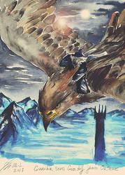 Gwaihir saves Gandalf by Miruna-Lavinia