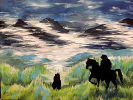 Black Riders by Miruna-Lavinia