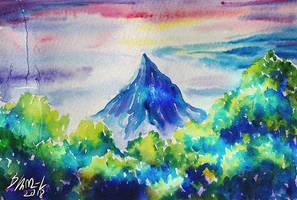 Behind the trees - Erebor