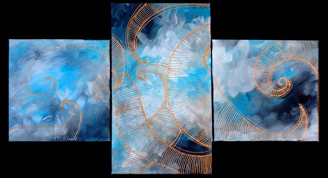 Triple canvas painting - for sale