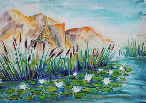 Minas Tirith with waterlilies