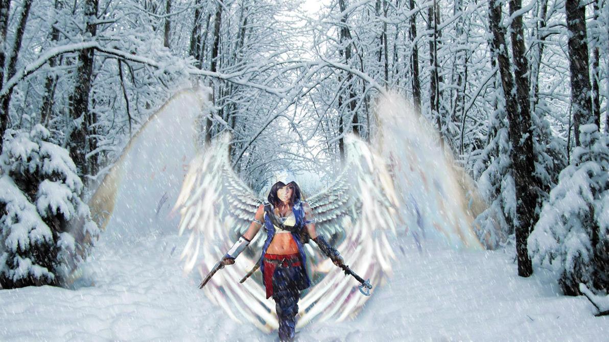 jessica nigri snow wallpaper by primerajosy14 on deviantart
