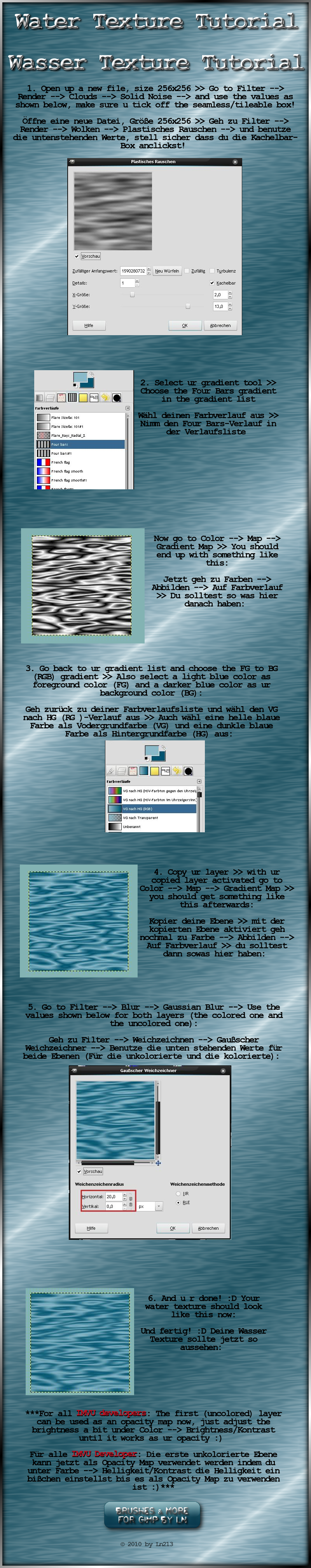 GIMP Water Texture Tutorial by el-L-eN