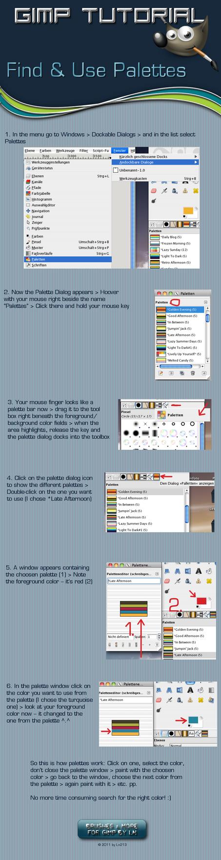 Find and Use Palettes in GIMP by el-L-eN