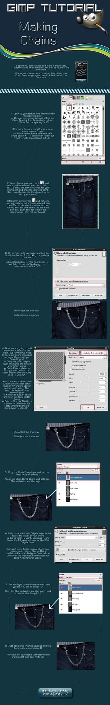 GIMP Circle Chain Tutorial by el-L-eN