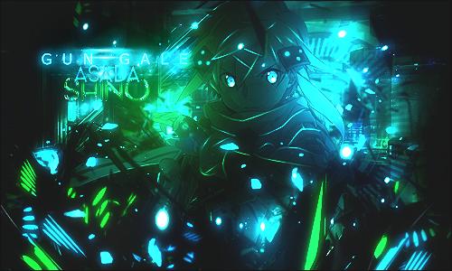 Gun Gale Online - Asada Shino Tag by SeventhTale