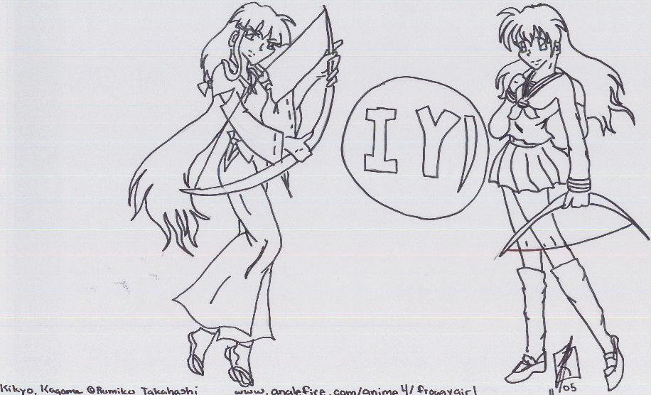 inuyasha coloring page by tasukicloud