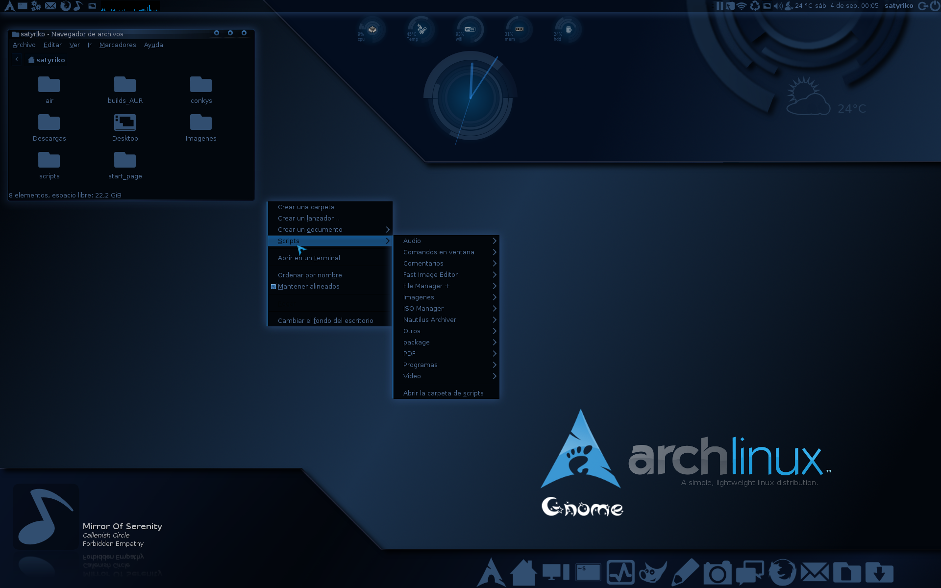 myDesk Arch Linux by satyriko on DeviantArt
