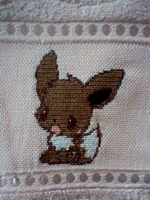 Eevee cross stitch by Anim-Soul