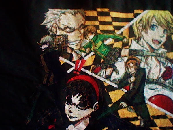 Persona 4 cross stitch WIP by Anim-Soul
