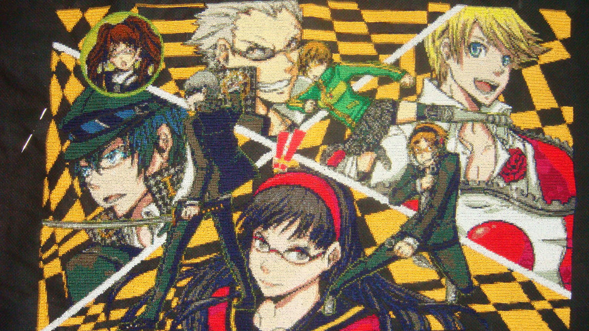 Persona 4 cross stitch by Anim-Soul