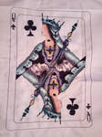 Queen of clubs cross stitch by Anim-Soul