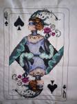 Queen of spades cross stitch by Anim-Soul