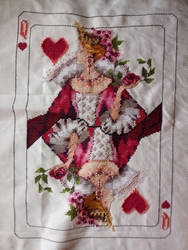 Queen of hearts cross stitch
