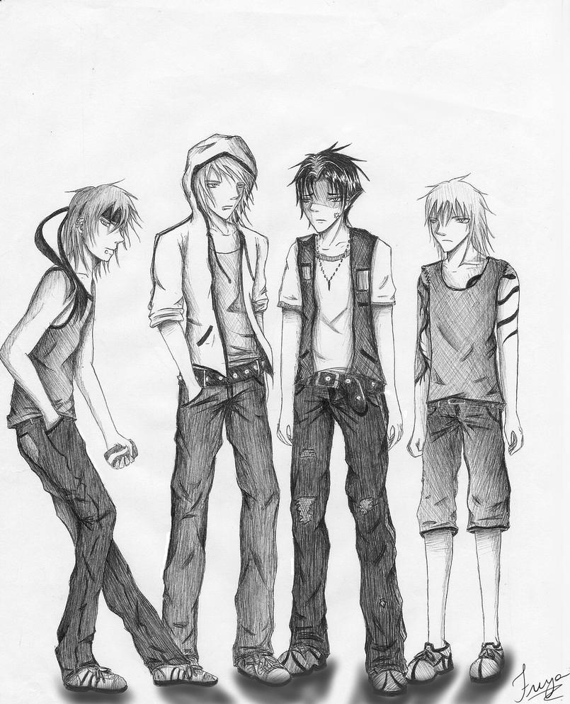 .: Group :. (sketch) by Freya-chii on DeviantArt